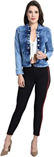 Fashion Hub India Denim Light Blue Ten Button Cool Style Short Shrug for Girls/Women