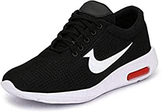 Men's Ultra Lite Mesh (Black/Red) Casual Sports Shoes for Men's