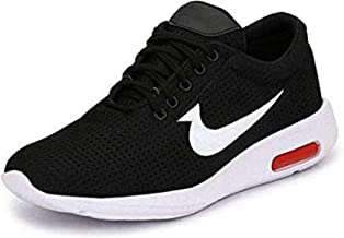 Ethics Men's Ultra Lite Mesh (Black/Red) Casual Sports Shoes for Men's