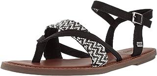 Toms Women'S Lexie Woven Black/White Nylon Sandal - 9.5M