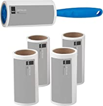KEPLIN Lint Roller+4 Sticky replacement Heads Easily and quickly removes animal hairs, dust and fluff from garments, furniture and car seats