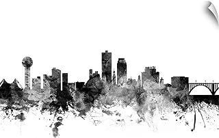 CANVAS ON DEMAND Knoxville Tennessee Skyline Wall Peel Art Print, 48