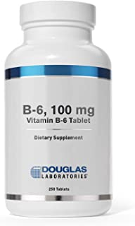 Douglas Laboratories - B-6-100 mg. Vitamin B6 to Support Energy Production, Metabolism and Normal Nervous System Function ...