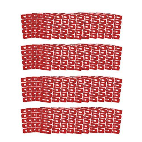 Milageto 200 Lot U Typ Nagelbänder Hautbarriere Anti Öl Überlauf Nagelabscheider Abdeckungen
