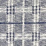Fabulous Fabrics Strickstoff Karomuster Marineblau/Weiss