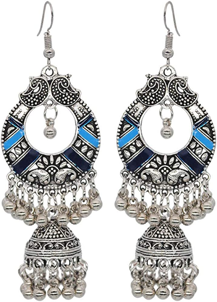 Dangle Earrings Colorful Bohemian Earrings Female Bell Spherical Tassel Earrings