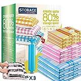Storage Master Bolsas de almacenamiento al vacío para ropa, Bolsas ahorradoras de espacio con...