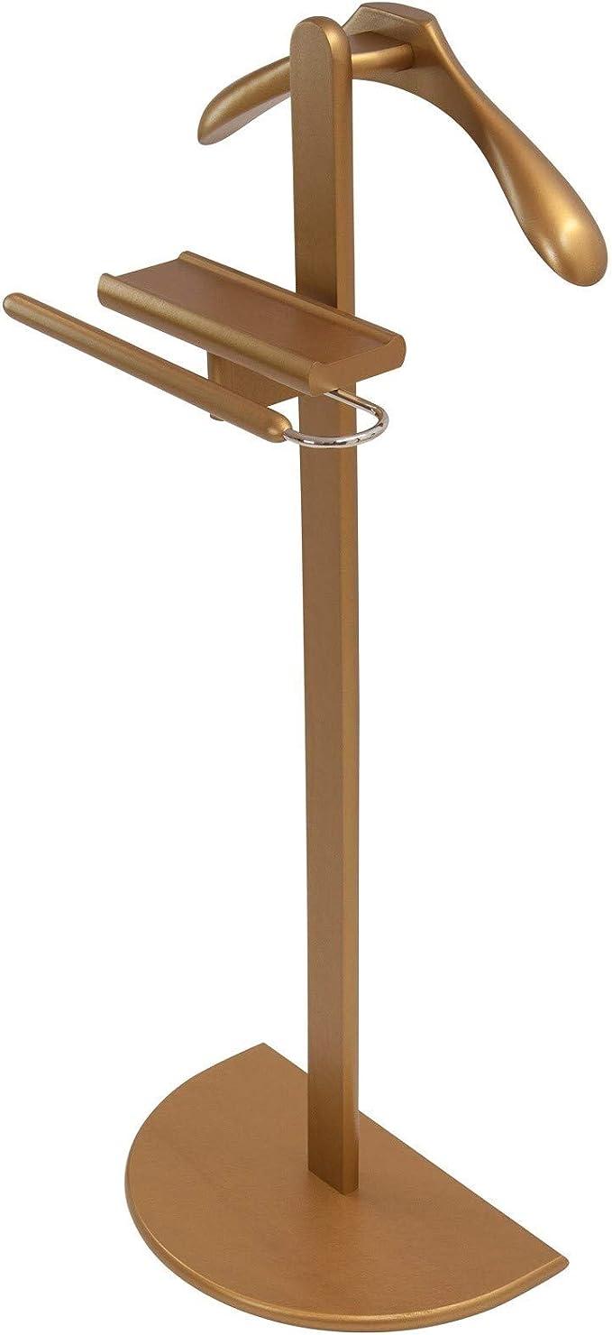 Kleiderb/ügelprofi.de Herrendiener Stummer Diener Emil Premium wei/ß extra Hosenstange Metallteile vechromt Schulterb/ügel 44 cm Auflagebreite 50 mm