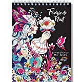 Coloriage Adulte Féerique de Nuit Anti Stress - Le Premier Livre de Coloriage pour Adultes Féerique de Nuit avec Reliure Spirale et Papier Artiste par Colorya