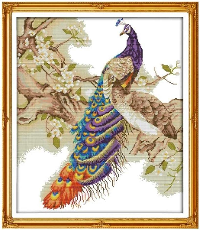 Cross Stitch Stamped Kits C 11CT Seattle Mall Reservation Embroidery Starter
