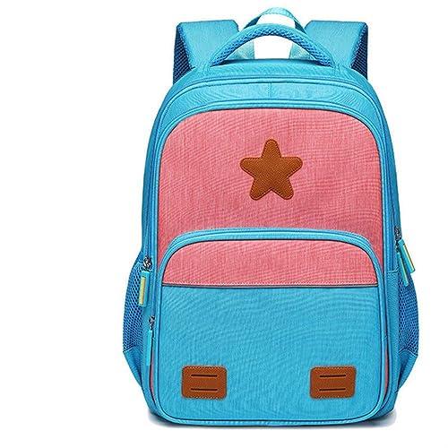 HPADR Sac à Dos pour enfantsmode Sacs d'école pour Enfants Sac à Dos pour Garçons Filles Sac à Dos étanche Sac d'école pour Enfants Z Bleu Ciel-Rose