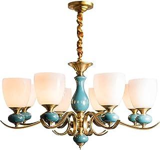 SXXYTCWL Pendentif Moderne Light American Simple Cuivre Céramique Suspension Salon Salon Personnalisé Chambre Cuisine Créa...