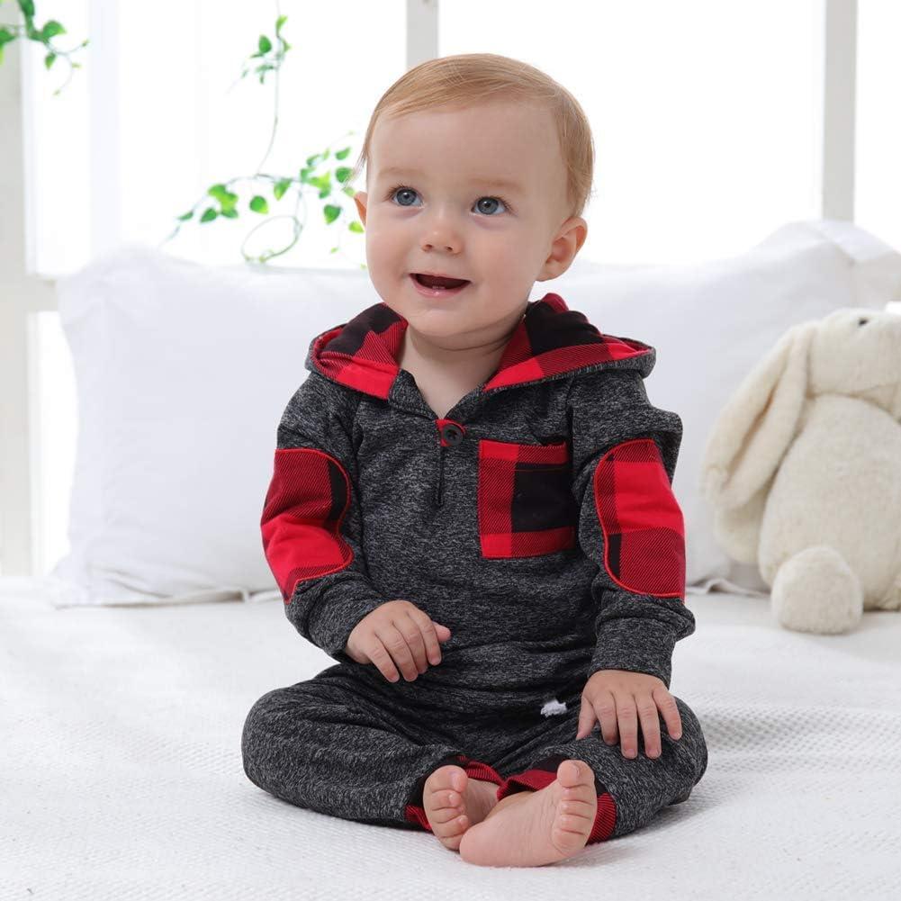 SANMIO Kleinkind Baby Junge M/ädchen Hoodie Bekleidungssets Klassisches Kariertes Sweatshirt Hosen Outfit