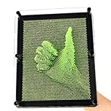 E-FirstFeeling 3D Pin Art Sculpture Extra Large 10' X 8' Pin Impression Hand Mold Board in Green