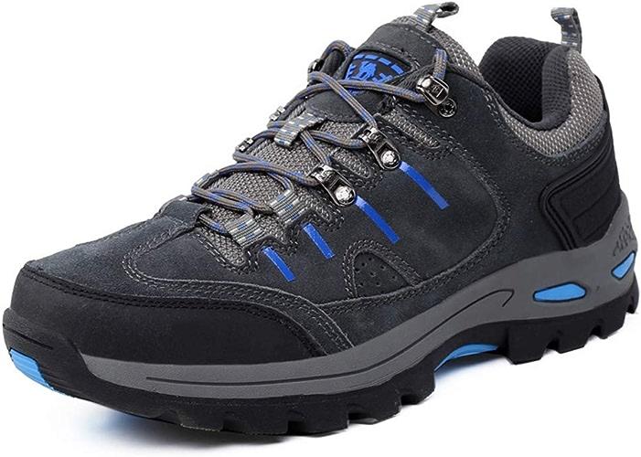 LH Alpinisme Chaussures de Course en Plein air antidérapant en Cuir Cross-Country Chaussures de randonnée Semelle extérieure en Caoutchouc adapté pour Les Hommes et Les Femmes,38