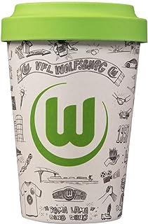 VfL Wolfsburg Coffee to Go Becher/Bambusbecher 400 ml wiederverwendbar Design by Ali Mojahedi