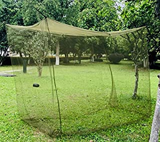 Aquinas Eagle Mosquito Netting, Portable Military Green Tactical Mosquito Net for Camping for a Twin/Twin XL Bed