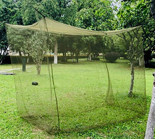 Aquinas Eagle Mosquito Netting, Portable Military Green Tactical Mosquito Net for Camping for a Twin Bed