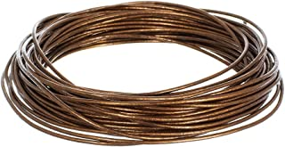 1.5mm Genuine Round Leather Cord Strips for Bracelets, Necklaces, Beading, and Other Jewelry Making – 10 Yards / 9.1 Meters – Brown