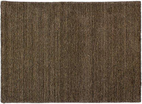 Lifetex.eu Teppich Lori Loom meliert ca. 140 x 200 cm Grau handgearbeitet Schurwolle Modern hochwertiger Teppich