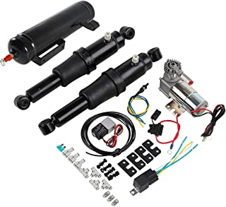 XMT-MOTO Rear Air Ride Suspension System with Air Tank fits for Harley Davidson Touring Bagger Models 2019-down