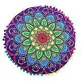 Bodenkissen Meditation Kissen Sitz Abdeckung Handarbeit Indische Abdeckung Mandala Überwurf Rund...