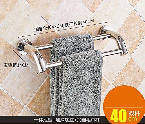 ZXC Bathroom racks douchen in de handdoekhouder roestvrij staal 304 badkamer handdoekhouder badkamer handdoekhouder badkamer plank metalen beugel 40 cm