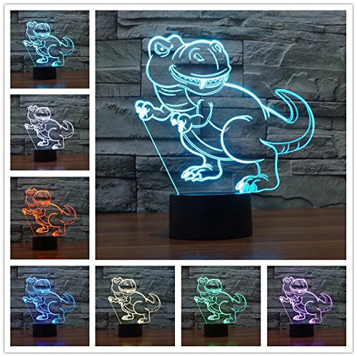 Game Movie Character Cartoon Animal Monster Dragon Dinosaur Pikachu Logo 3D LED Night Light 7 Colors Table lamp Bedroom Decoration Kids Toys Christmas Gift