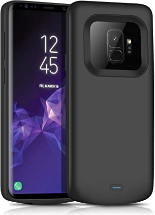Galaxy S9 Battery Charging Case,JUBOTY Slim 4700mAh Portable Protective Extended Battery Case with Full Edge Protection Compatible with Samsung Galaxy S9(24 Month Warranty)
