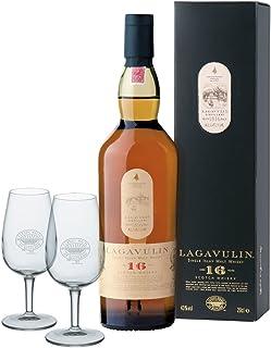Lagavulin Islay Malt 16 Jahre 0,7 Liter mit 2 Classic Malt Whiskygläsern