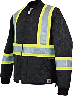 Work King Quilted Safety Jacket, M, Black - S43211