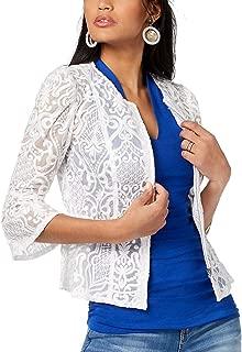 Women's Petite Illusion-Lace Peplum Jacket