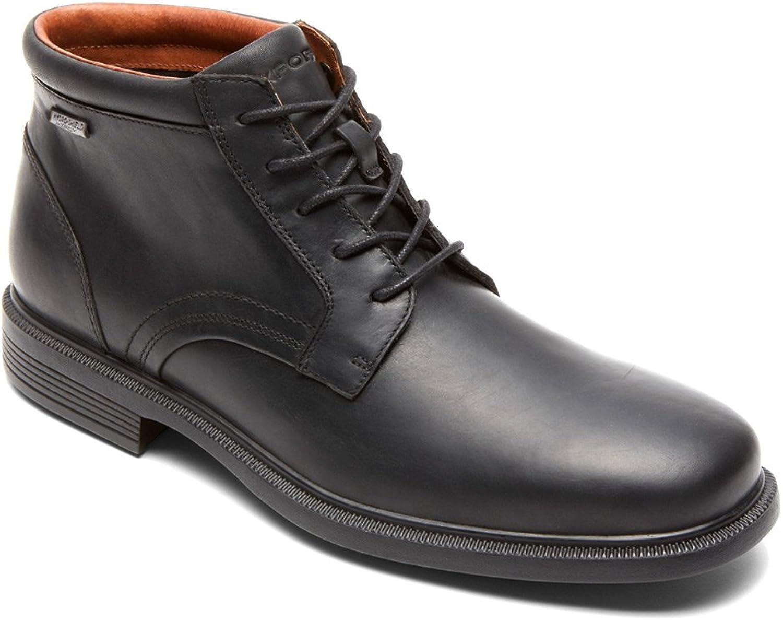 Rockport Men's Dressports Luxe Waterproof Chukka Black boots 9.5 M