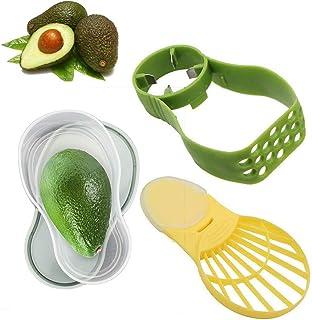 Avocado Slicer, Avocado Saver, Avocado Tools Set for Kitchen-5-in-1 Multifunction Avocado Slicer, Storage Container, Scoop Slice and Mash Avocado Fresh