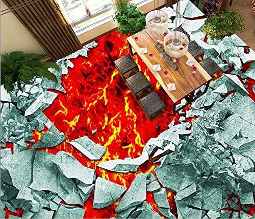 Suelos Vinilicos Papel Pintado De Murales De Suelo Simple 3D Papel Tapiz De Suelo 3D Para Exteriores, Papel Tapiz Autoadhesivo De Magma Volcánico, Azulejos De Suelo 3D, Papel Tapiz Fotográfico, Sue