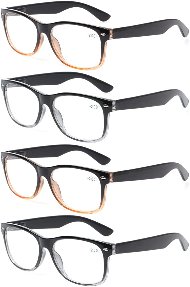 4 Denver Mall Pairs Deluxe Reading Glasses Oakland Mall Simple - Stylish Stan Comfortable