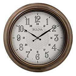 Bulova C4852 Key West Wall Clock, Brown
