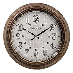 Bulova C4852 Key West Wall Clock, Brown