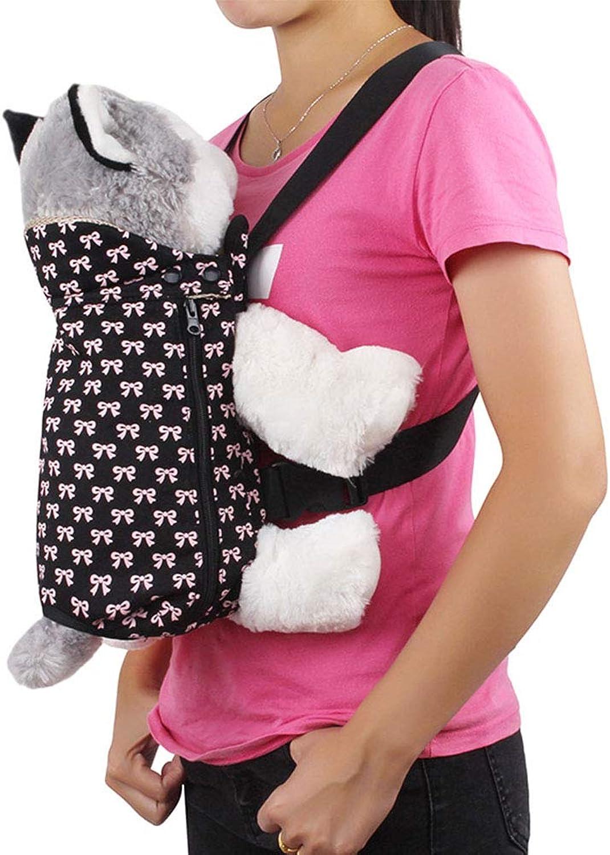 Legs Out FrontFacing Dog Carrier Backpack, Breathable Comfortable Hands Free Adjustable Pet Backpack Travel Shoulder Bag for Biking, Hiking, Trip, Shopping,Black,M