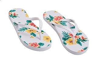 Aeropostale Floral Print Braided Strap Flip Flops for Women