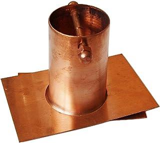 U-nitt 2-Piece Gutter Installer/Adapter for Rain Chain Pure Copper: #975
