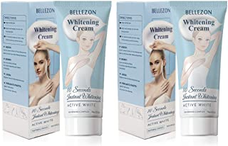 Whitening Cream, Effective Lightening Cream for Armpit, Knees, Elbows, Sensitive and Private Areas, Brightens & Nourishes Repairs Skins(2 Packs)