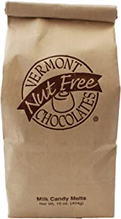 Vermont Nut Free Chocolates Candy Melts (Milk Chocolate) 16 oz, 2 Bags