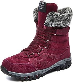 LingGT Sport Boots Women Large Size Fur Lined Platform Snow Shoes (Color : Purple, Size : AU 7.5)