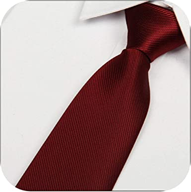 neckties 2016 Nuevo 8Cm Vino Rojo Seda Corbatas Hombres de ...