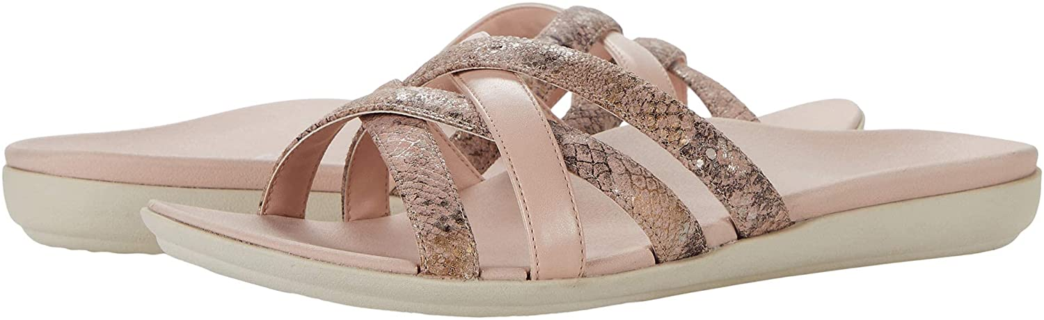 Vionic Women's Mirage Dava Slide Sandal - Ladies Sandalsthat Include Three-Zone Comfort with Orthotic Insole Arch Support