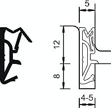 Gedotec DS-112a Afdichting voor huisdeur, 12 mm, siliconen afdichting, groefbreedte 4-5 mm, vleugeldichting, made in Germa...