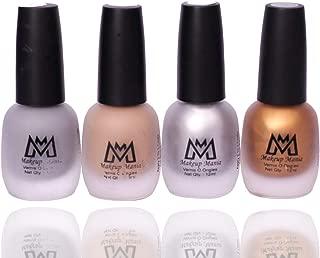 Makeup Mania Premium Nail Polish Set, Velvet Matte Nail Paint Combo of 4 Pcs, Perfect Gift for Girls and Women (MM-67), Multicolor, 300 g
