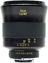 Zeiss Otus 85mm f/1.4 Apo Planar ZF.2 Series Manual Focusing Lens for Nikon DSLR Cameras