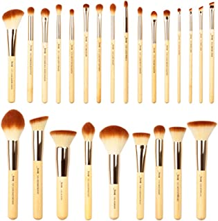 Jessup Brand 25pcs Beauty Bamboo Professional Makeup Brushes Make up Brush Tools kit Foundation Powder Blushes Eye Shader ...